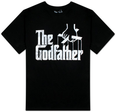 The Godfather - Distressed Logo Camiseta