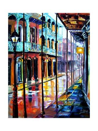 Rain on Royal Street Prints by Diane Millsap