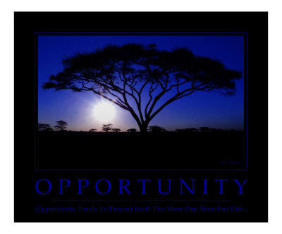 Opportunity Motivational Photographic Print
