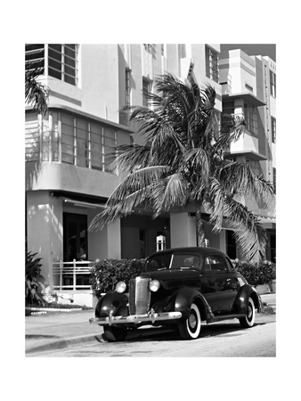 South Beach Art Deco, Miami, Florida Photographic Print
