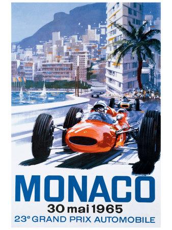 Grand Prix Monaco, 30. Mai 1965 Giclée-Druck