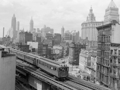 Third Avenue EL, New York, New York Photographic Print by John Lindsay