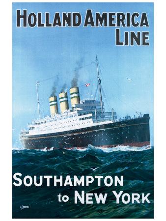 Holland America Line Giclee Print by G.h Tavis