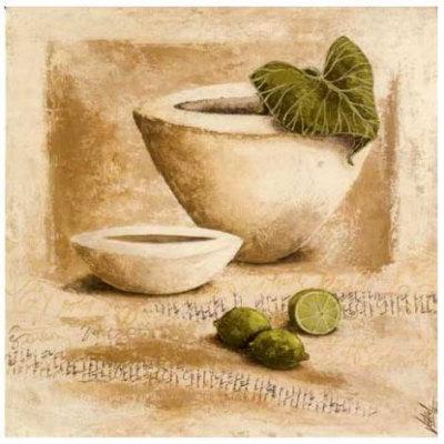 Citrons Verts Poster by Véronique Didier-Laurent