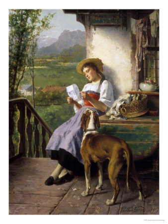 The Love Letter Giclee Print by Theodore Gerard