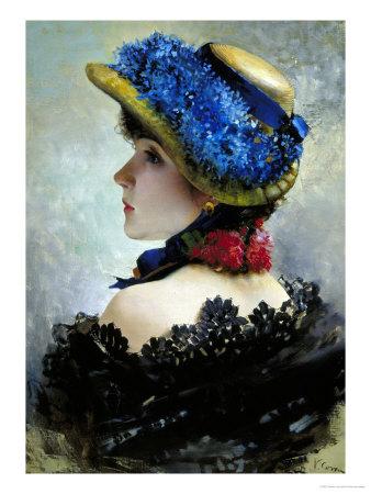 Pretty as a Picture Stampa giclée di Vittorio Corcos