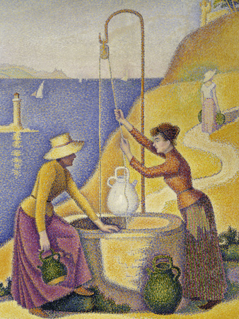 Women at the Well, Opus 238, c.1892 Giclee Print by Paul Signac