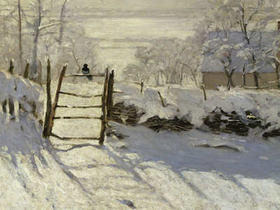 The Magpie, c.1869 Premium Giclee Print by Claude Monet