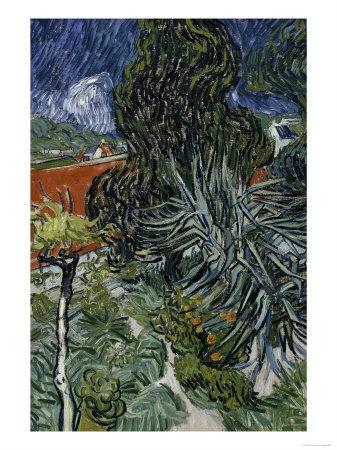 Dr. Paul Gachet's Garden at Auvers-Sur-Oise, c.1890 Giclee Print by Vincent van Gogh