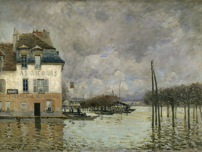 Flood of Port-Marly, c.1876 Giclee Print by Alfred Sisley