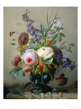 Still Life of Summer Flowers Giclee Print