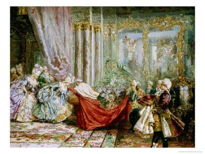 The Cardinal's Visit, c.1901 Giclee Print by Salvador Sanchez Barbudo
