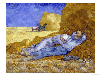 Midday Rest (after Millet), c.1890 Gicleetryck