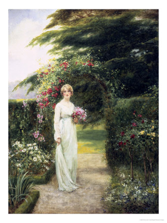 In the Rose Garden Giclee Print