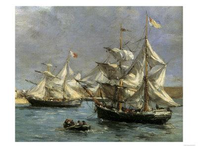The Port of Camaret, c.1872 Giclee Print by Eugène Boudin