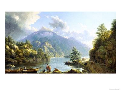 Boatmen on Loch Katrine Giclee Print by John Knox