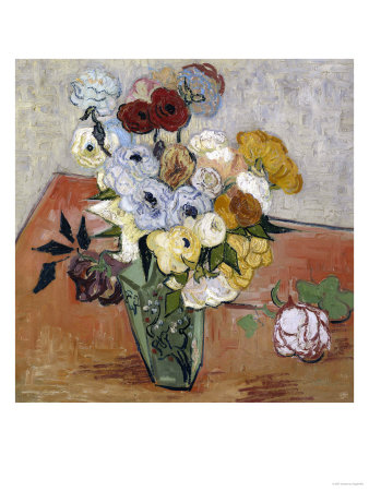 Still-Life with Japanese Vase, c.1890 Giclee Print by Vincent van Gogh