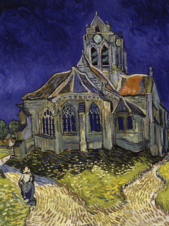 The Church in Auvers-Sur-Oise, c.1890 Lmina gicle