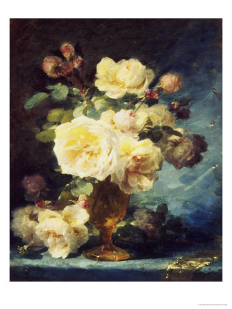 Roses in a Vase Giclee Print by Andre Perrachon