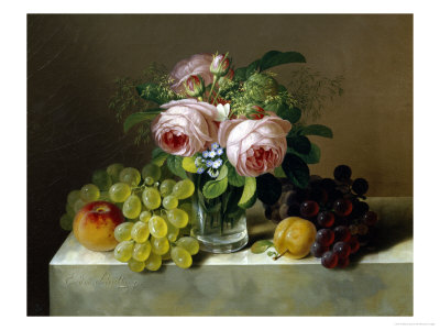 Still Life of Fruit and Flowers Giclee Print by Erdmann Schultz