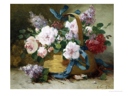 The Basket of Flowers Giclee Print by Eugene Henri Cauchois