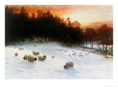 Winter Sunset Giclee Print by Joseph Farquharson