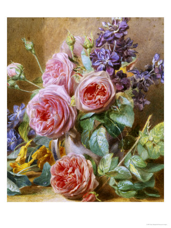 Still Life of Roses Giclee Print by Mary Margetts