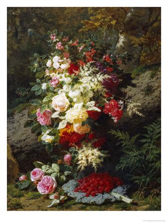 Still Life with Raspberries Giclée-Druck von Jean Baptiste Claude Robie