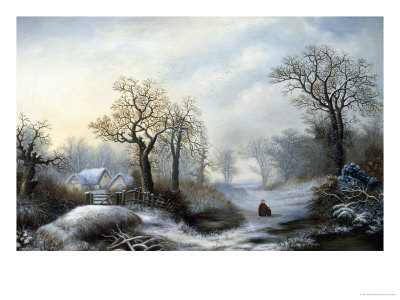 Glistening Winter's Eve Giclee Print by William Stone
