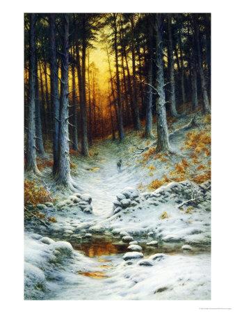 Glowing Sunset Giclee Print by Joseph Farquharson