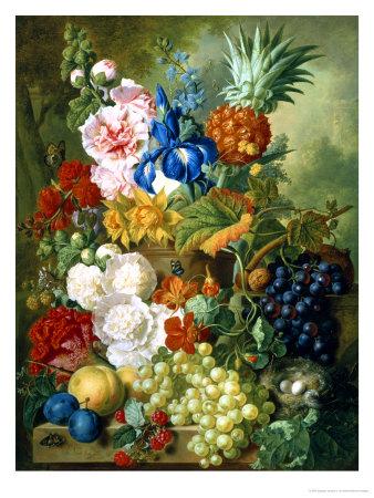 Rich Still Life of Summer Flowers Giclee Print by Georgius Jacobus J. van Os