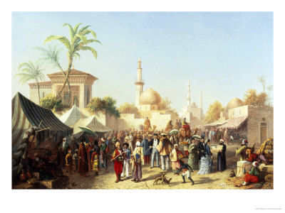 Turkish Market Giclee Print by Rudolph von Alt