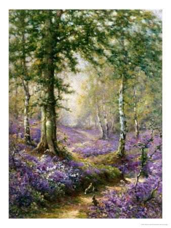 The Bluebell Wood reproduction procd gicle