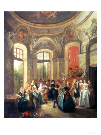 Fete Galante, Music and Dancing Giclee Print by Jean Baptiste Pater