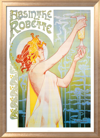 Absinthe Robette Lmina enmarcada