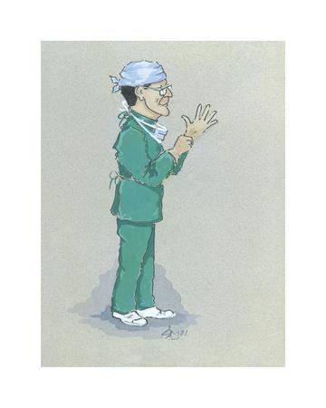 The Surgeon Premium Giclee Print by Simon Dyer