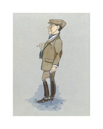 The Racegoer Premium Giclee Print by Simon Dyer