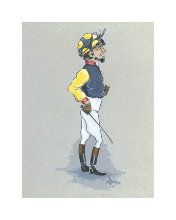 The Jockey Premium Giclee Print by Simon Dyer