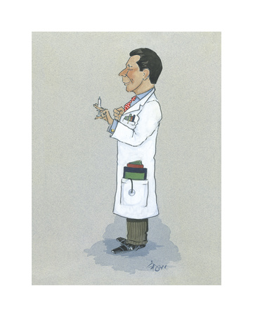 The Physician Premium Giclee Print by Simon Dyer