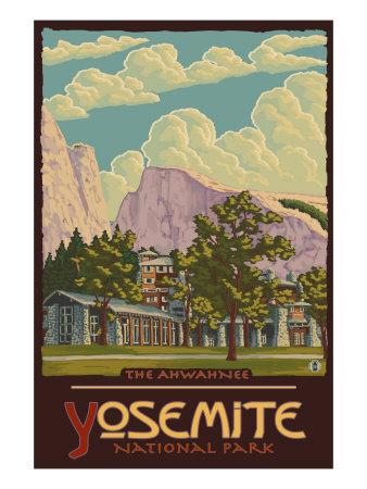 Ahwahnee Lodge, Yosemite National Park, California Prints by  Lantern Press