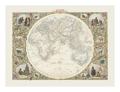 Eastern Hemisphere Premium Giclee Print by John Tallis