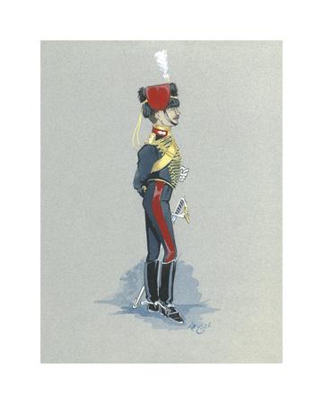 The Gunner Premium Giclee Print by Simon Dyer