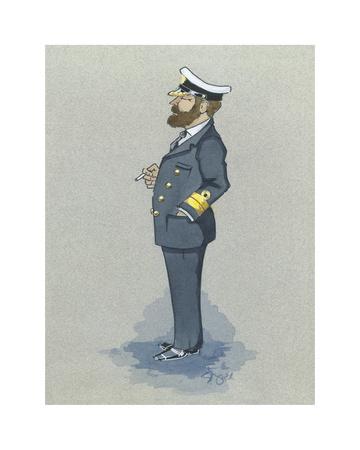 The Naval Captain Premium Giclee Print by Simon Dyer