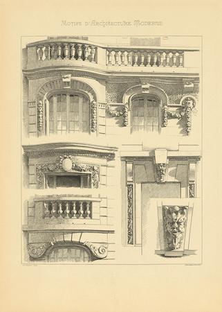 Motifs d 39 architecture moderne ii impress o gicl e premium - Architecture moderne residentielle schmidt lepper ...