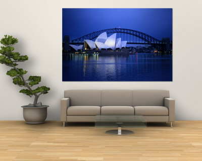 Harbor and Sydney Opera House Wall Mural by Sam Abell