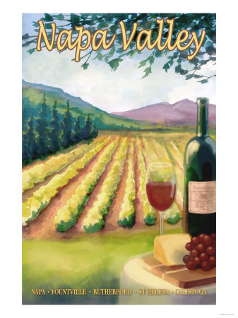 Napa Valley, California Wine Country Prints by  Lantern Press