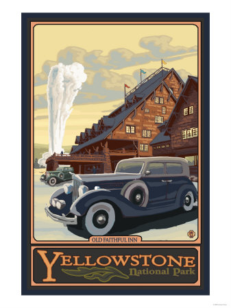 Old Faithful Inn, Yellowstone National Park, Wyoming Kunst von  Lantern Press