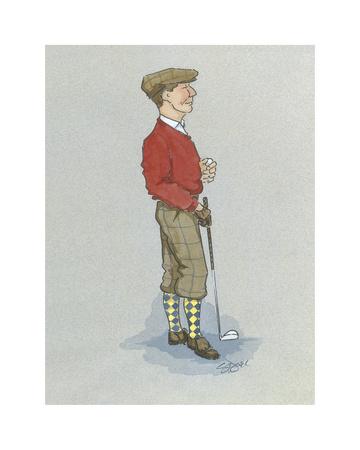 The Golfer Premium Giclee Print by Simon Dyer