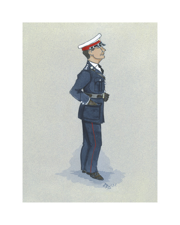 The Marine Officer Premium Giclee Print by Simon Dyer