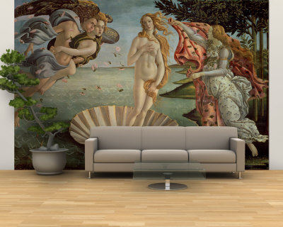 The Birth of Venus, c.1485 Wall Mural – Large by Sandro Botticelli!